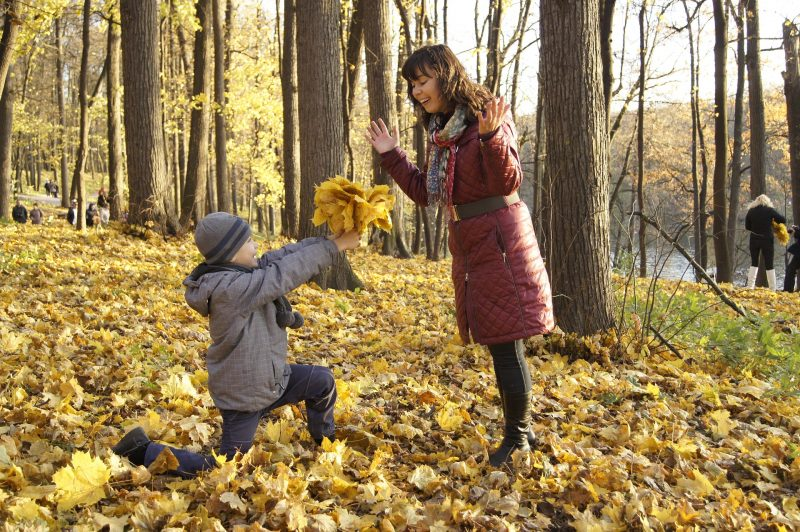 mother-and-son-leaves